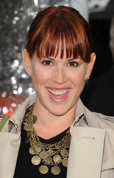 Molly Ringwald Messy Updo
