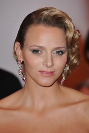 Charlene Wittstock showed off her retro waves while attending the Grand Prix Gala Dinner.