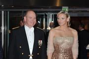 Prince Albert II of Monaco and Charlene Wittstock arrive to attend the Monaco National day Gala concert at Grimaldi forum on November 19, 2010 in Monaco, Monaco.