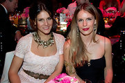 Margherita Missoni grabbed attention with her chunky pearl statement necklace at the 2011 Monaco Rose Ball.