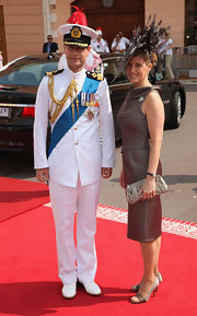 Elegant satin pumps were a sophisticated choice for the Monaco Royal Wedding.