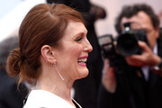 Julianne Moore sported a loose, low bun at the Cannes premiere of 'Money Monster.'