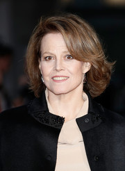 Sigourney Weaver attended the BFI London Film Festival screening of 'A Monster Calls' wearing her hair in a retro bob.