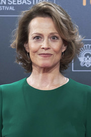 Sigourney Weaver styled her hair into a curled-out bob for the San Sebastian Film Festival premiere of 'A Monster Calls.'