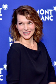 Milla Jovovich looked fab with her feathery bob at the Montblanc Meisterstuck Le Petit Prince event.