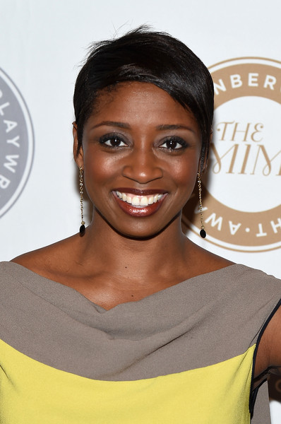 Montego Glover Pixie [hair,face,shoulder,eyebrow,hairstyle,skin,chin,lip,beauty,yellow,arrivals,montego glover,new york city,steinberg playwright awards]