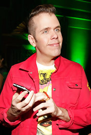 Perez Hilton attended the One Night in Los Angeles event wearing his hair in a zany hightop fade.