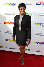 Gladys Knight looked sleek and professional in a black knee-length skirt.