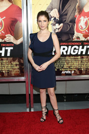 Anna Kendrick was modern and edgy in an asymmetrical blue ruffle dress by David Koma at the New York premiere of 'Mr. Right.'