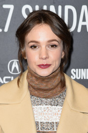 Carey Mulligan styled her hair into a loose bun with wavy tendrils for the Sundance premiere of 'Mudbound.'