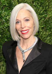 Linda Fargo styled her hair into a sleek bob for the Museum of Modern Art benefit.