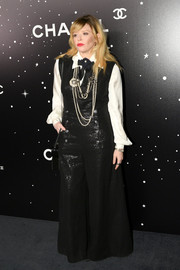 Natasha Lyonne turned heads in a flared black jumpsuit by Chanel at the MoMA Tribute to Martin Scorsese.