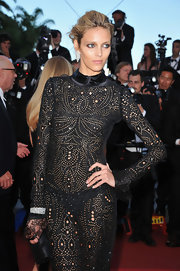 The Polish model wore a fancy-cut diamond 60.8-carat bracelet set in platinum to the Cannes Film Festival.