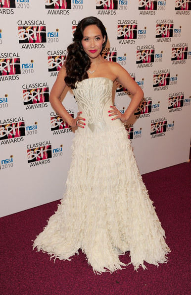 Myleene Klass Empire Gown