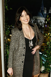 Daisy Lowe completed her bling with a statement gold cuff.
