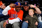 Spike Lee routes for his favorite basketball team, the New York Knicks.