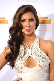 Katherine Webb added some sweetness to her oh-so-hot look with this curly side sweep during the Sports Illustrated Swimsuit Issue 50th anniversary bash.
