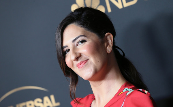 More Pics of D'Arcy Carden Loose Ponytail (1 of 5) - D'Arcy Carden Lookbook - StyleBistro [hair,beauty,eyebrow,chin,hairstyle,skin,lady,forehead,lip,black hair,arrivals,darcy carden,universal emmy nominee celebration,tesse restaurant,west hollywood,california,nbc,nominee celebration]