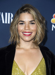 America Ferrera enhanced her smile with some red lippie.
