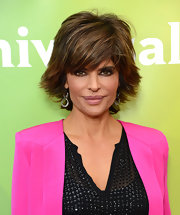 Lisa Rinna's feathered fringe was full of movement and volume at NBCUniversal's 2013 Winter TCA Tour.