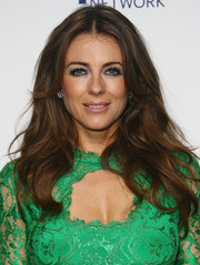 Elizabeth Hurley looked like a goddess with her long wavy hairstyle at the NBCUniversal Cable Entertainment Upfronts.