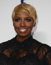 NeNe Leakes donned a blonde and wavy pixie at the NBCUniversal Cable Entertainment Upfronts in New York City on May 15th, 2014.