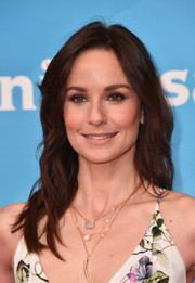 Sarah Wayne Callies attended the 2018 NBCUniversal Summer Press Day wearing her hair in casual waves.