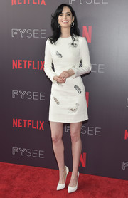 Krysten Ritter looked impeccable in a feather-beaded LWD by David Koma at the Netflix FYSEE event for 'Jessica Jones.'