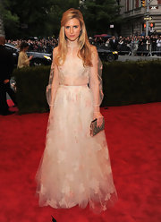 Brit Marling looked like a frothy princess in this tulle gown at the Met Gala.