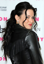 Katrina Law wore her hair in a ponytail to a NYLON Magazine event in Los Angeles.