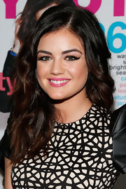 Lucy's luscious locks were full of bouncy curls at NYLON's Cover Star party.