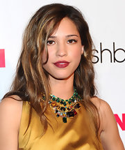 Kelsey Chow wore her long locks subtly styled at the 'Nylon' magazine 13th anniversary celebration. She left her shiny mane in softly tousled waves.