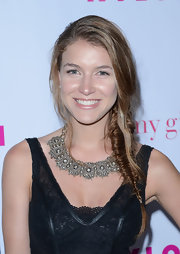 Nathalia Ramos arrived at a celebration for 'Nylon' magazine's young Hollywood issue wearing a stunning Victorian rose cut diamond necklace.