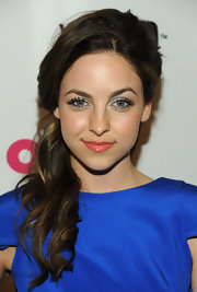 Brittany Curran kept her pout low key with a glossy shade of nude.