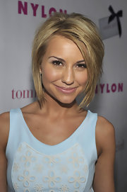 Chelsea Kane wore her cute 'do with lots of volume and textured layers while attending the 'Nylon' magazine celebration of the newest young Hollywood issue.