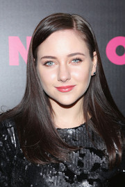 Haley Ramm kept it basic with this straight side-parted 'do at the Nylon issue party.