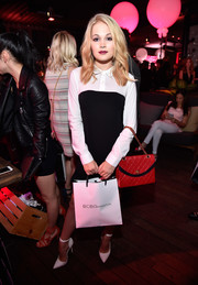 Kelli Berglund donned a cute black-and-white shirtdress by BCBGeneration for the Nylon Young Hollywood party.