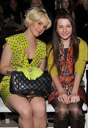 Kelly Osbourne showed off her classic quilted Chanel bag while attending a Fall 2010 Fashion Show In New York.