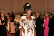 Naomi Campbell Goes all out in Tasseled Alexander McQueen at the 2011 Met Gala