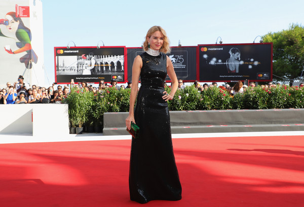 Naomi Watts Sequin Dress [the nightingale,red carpet,carpet,dress,red,flooring,premiere,fashion,event,gown,naomi watts,sala grande,red carpet,venice,italy,nightingale red carpet arrivals,venice film festival,screening]