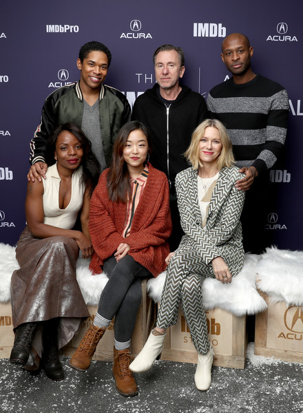 Naomi Watts Pantsuit [people,fashion,event,fashion design,family,family pictures,marsha stephanie blake,andrea bang,julius onah,kelvin harrison jr.,tim roth,naomi watts,luce,sundance film festival,imdb studio at acura festival village on location,the imdb studio]