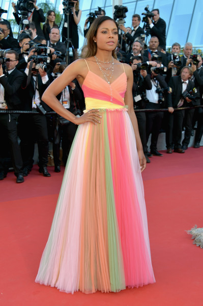Naomie Harris Princess Gown