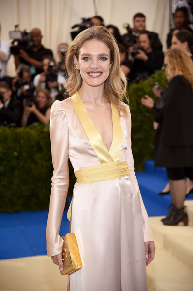 Natalia Vodianova Metallic Clutch