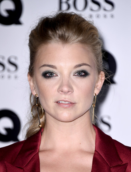 Natalie Dormer Smoky Eyes [hair,face,eyebrow,hairstyle,lip,beauty,skin,chin,eyelash,ear,gq men of the year awards,natalie dormer,gq men of the year awards,england,london,tate modern,red carpet arrivals]