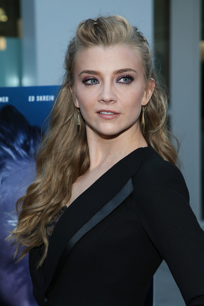 Natalie Dormer Half Up Half Down [in darkness - arrivals,hair,face,blond,hairstyle,beauty,eyebrow,shoulder,lip,long hair,chin,natalie dormer,arclight hollywood,california,vertical entertainment,of vertical entertainment,premiere]