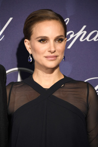 Natalie Portman Dangling Gemstone Earrings