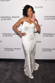 Regina King looked alluring in a white satin slip gown by Zac Posen at the National Board of Review Awards Gala.