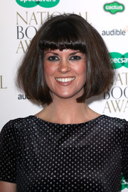 Dawn O'Porter sported a voluminous bob with blunt bangs at the National Book Awards.