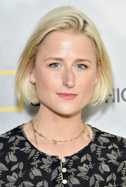 Mamie Gummer sported a classic bob at the screening of 'Before the Flood.'