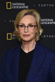 Jane Lynch opted for a short layered cut when she attended the National Geographic Further Front event.